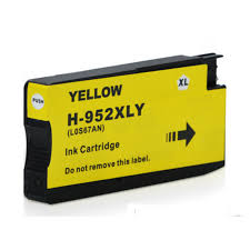 HP 952XL Yellow Compatible Inkjet Cartridge, High Yield - Click Image to Close